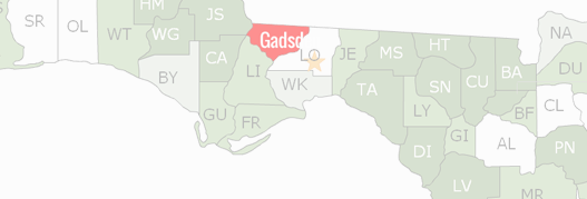 Gadsden County Map