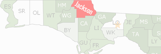 Jackson County Map